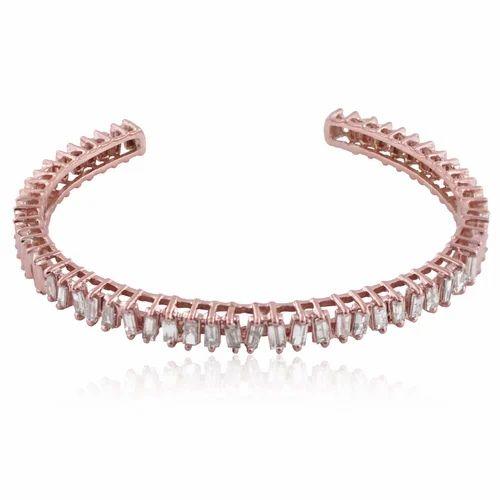 d5b43759ec4 14K Gold Baguettes Diamond Cuff Bangle, Size: 45 X 60 Mm, Rs 45000 ...