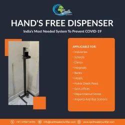 Foot operated sanitizer dispancer