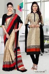 Uniform Saree Salwar combo for hotel staff
