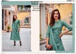 Rachna Art Silk Pattern Cut Work Catalog Kurti For Women 7