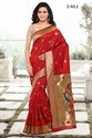 Red Heavy Cotton Silk Sarees