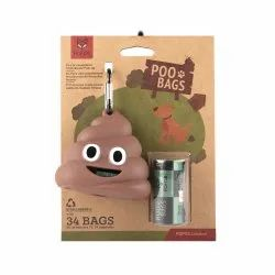 Fofos Poop Bag Sets 34 Bag With 1 Dispenser