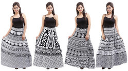 Casual Wear Cotton Wrap Skirt
