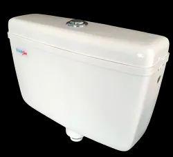 White, Ivory Plastic Star Sleek Dual Flush Flushing Cistern 3/6 Liters, For Toilet
