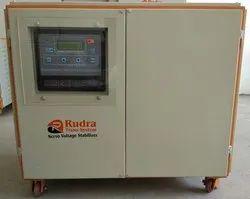Rudra Air Cooled 45 KVA 3 Phase Servo Voltage Stabilizer, 415v, 340-480v