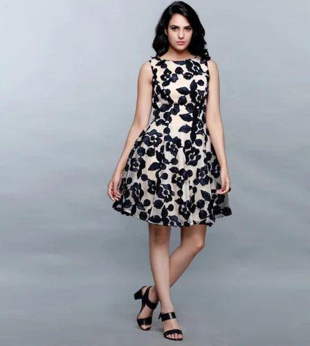 85e6e521a72 Floral Navy Blue Dress at Rs 6299 /piece | Goregaon | Mumbai | ID ...