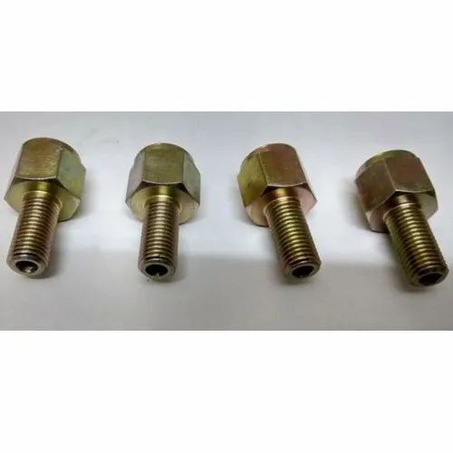 Brass Industrial Hex Bolt, Hexagonal, Packaging Type: Box