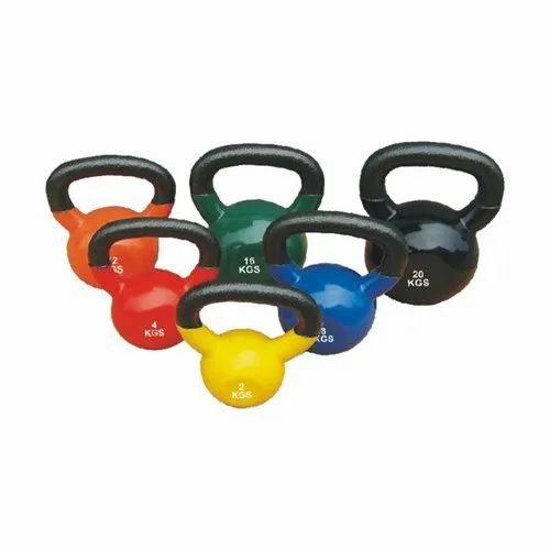 Color Coated Cast Iron Kettle Bell Dumbbell, weight: Available in 2,4,8,12,16,20,24,28,32 Kg