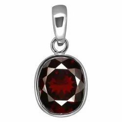 Garnet Locket Silver Gemstone