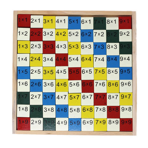 Multicolor Wooden Multiplication Table - 1TNG142