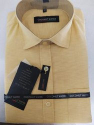 Collar Neck Mens Formal Cotton Shirt, Packaging Type: Packet