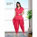 Ysf Half Sleeve Ladies Patiala Night Suit