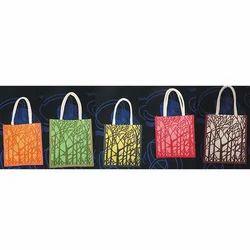 Tree Printed Jute Shopping Bag