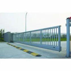 Mild Steel Cantilever Sliding Gate, For Industrial