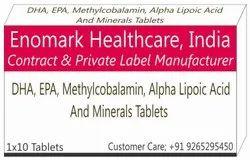 DHA, EPA, Methylcobalamin Alpha Lipoic Acid and Minerals