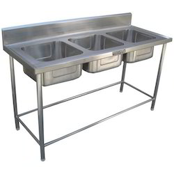 Three Sink Table