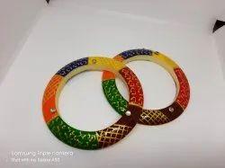 Multicolor Bhoor Matiriyal Rajvadi Bangle