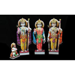 Ram Darbar Set 4 Pcs Marble Statue