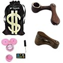 Newzenx Rosewood Monkey Pipe/American Design Tobacco Pipe 2 Inch Incl. Accessories and Velvet Pouch