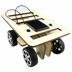Wooden DIY Solar Car Kit - Solar Powered Assemble Toy Set