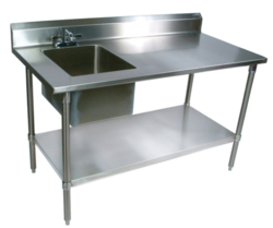 Worktable With Sink