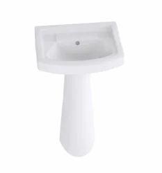 White Standard Pedestal Basin