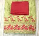 Pista Green Embroidered Punjabi Suit