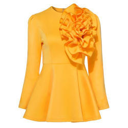 Girls Full Sleeve Party Wear Top, Size: S-XL