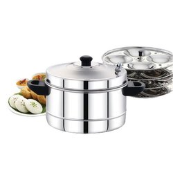 4 Plate Stainless Steel Idly Cooker