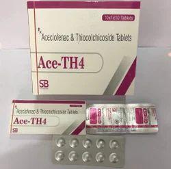 Aceclofenac 100mg   Thiocolchicoside 4mg Tablets