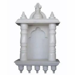 Indoor White Marble Handicrafts Temple, for Home