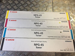 Canon NPG 45 Black Cyan Yellow Mazenta Full  Toner Cartridge