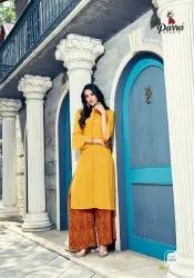 Parra Studio New Concept With Palazzo House Zurri Vol 5 Rayon Kurti