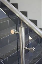 Polished Stairs Steel Railing, For Construction