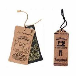 Khaki Printed Hang Tag, Packaging Type: Carton Box