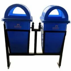 green Blue Nilkamal Dustbin, Size: 100litre, For Indoor And Outdoor