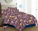 Dark Colour Floral Print Bedsheet