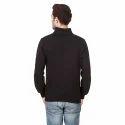 Mens Plain Black Sweatshirt