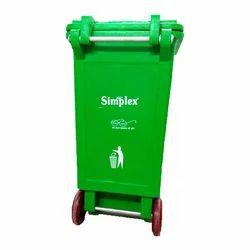 Green Simplex Plastic Dustbin