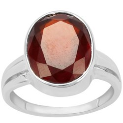 Natural Hessonite Stone Ring