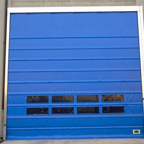 Blue High Speed Shutter Door