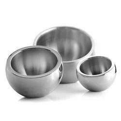 Round Chrome Candy Bowls