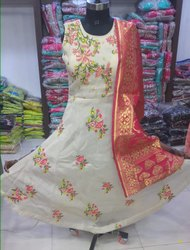 Banarasi Dupatta Anarkali Gown Dress