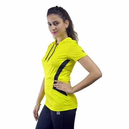 965c874841deb ACTIVE N ALIVE Half Sleeve Yellow Women T Shirt