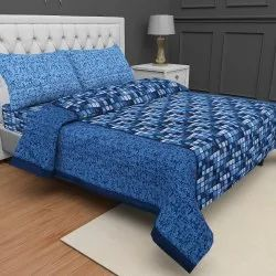 Procion Printed Cotton Double Bedsheet Fast Colours