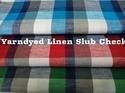 Yarn Dyed Linen Slub Check Fabric