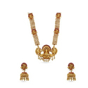 Maalyaa Lakshmi Patterned Antique Kundan Long Necklace Set