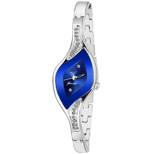 Blue Formal Wear Ladies Rich Club Stylish Dial Stone Watch