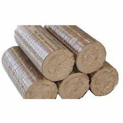 Brown Wood Biomass Briquette