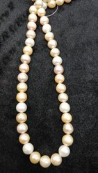 Pink and White Fresh Water Pearl String